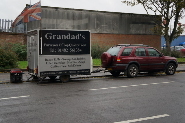 Grandads snack van on English Street, Hull