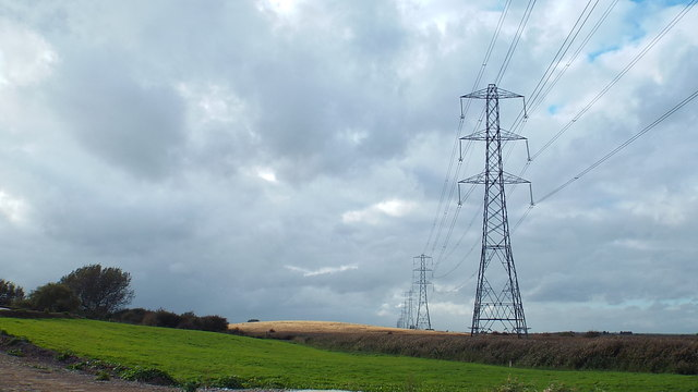 Electricity pylons, Seasalter Level
