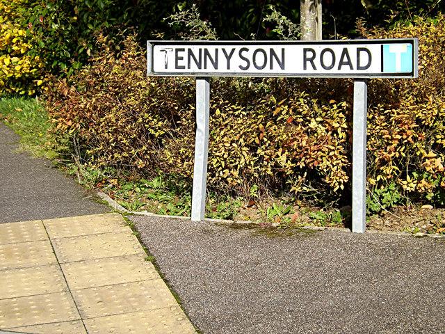 Tennyson Road sign