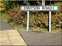 TM3763 : Tennyson Road sign by Adrian Cable