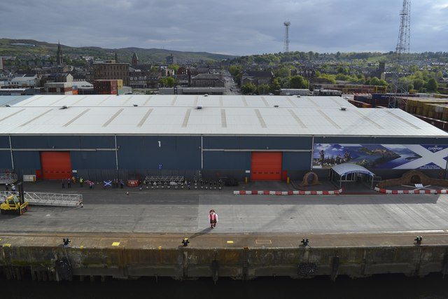 Greenock Ocean Terminal Building, viewed from P&O's Adonia as she departs Greenock en route for the Isle of Man