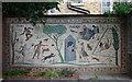 TQ3283 : Shepherdess Walk mosaic project: single panel view by Julian Osley