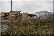 TA0827 : Timber on William Wright Dock, Hull by Ian S