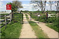 SE3292 : Level crossing for Wensleydale Railway by Roger Templeman