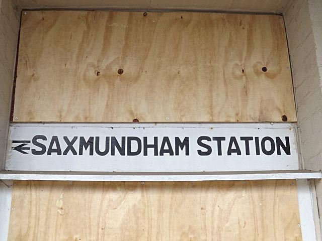 Saxmundham Railway Station sign