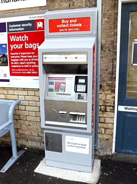 Ticket Machine at Saxmundham Railway Station