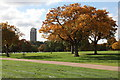 TQ2780 : View across Hyde Park towards Hyde Park Barracks by Doug Lee