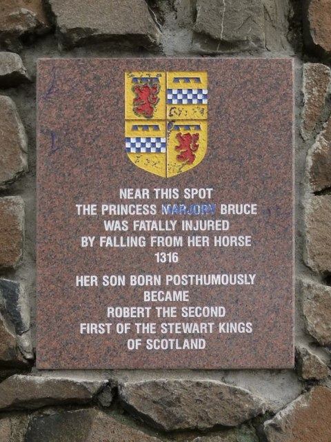 The Marjory Bruce Cairn: plaque