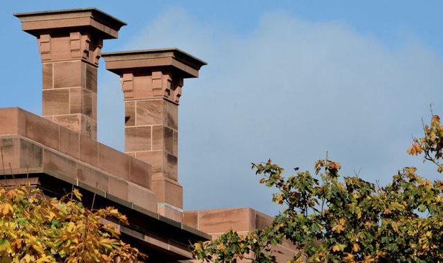 Sandstone chimneys, Belfast
