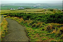 C9444 : Antrim Coast - Giant's Causeway - Footpath along Cliff Edge northeast of Visitor Centre by Joseph Mischyshyn