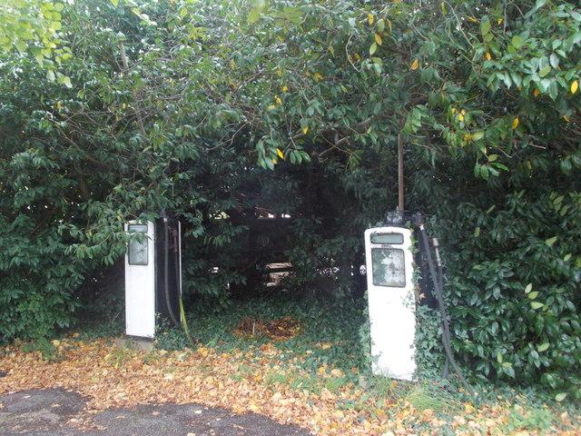Exbury: old petrol pumps by Chris Downer