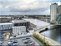 SJ8097 : Manchester Ship Canal from the Air Shard by David Dixon