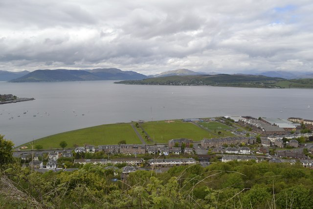 Battery Park viewed from the Lyle Hill Viewpoint, Greenock