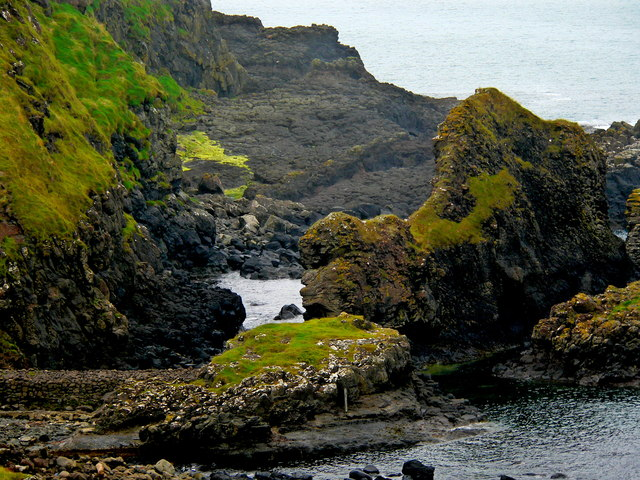 Antrim Coast - Giant's Causeway - Southwest side of Pornaboe