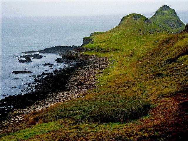 Antrim Coast - Giant's Causeway - East Side of Portnaboe & Great Stookan