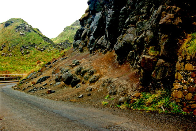 Antrim Coast - Giant's Causeway - Shuttle Bus Road near Great Stookan