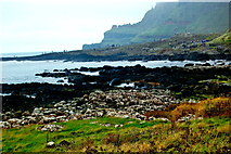 C9444 : Antrim Coast - Port Ganny,  Grand Causeway, Cliffs along east  side of Port Noffer by Joseph Mischyshyn