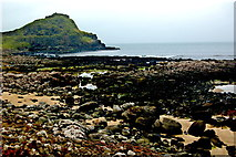 C9444 : Antrim Coast- Giant's Causeway - Tidal Pools at Port Ganny & The Great Stookan by Joseph Mischyshyn