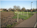 SP2965 : Temporary fence around reinstated area, St Nicholas Park by Robin Stott