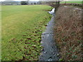 ST4289 : St Bride's Brook flows alongside St Brides Road, St Brides Netherwent by Jaggery