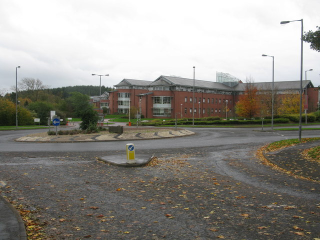 Roundabout on Stewartfield Way and Centre 1, East Kilbride