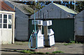 SE9576 : Disused fuel pumps, Sherburn by Pauline E