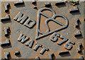 "J4873 : ""Watt"" access cover, Newtownards (2) by Albert Bridge"