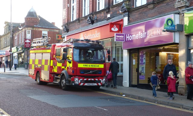 Fire Engine on Front Street