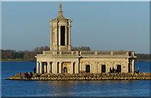 SK9306 : Normanton Church and Rutland Water by Mat Fascione