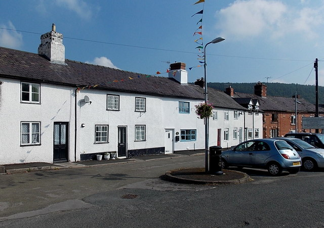 White houses in Russell Street, Knighton