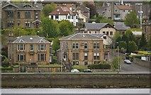 NS2677 : Villas on Greenock Esplanade, viewed from P&O's Adonia sailing out of Greenock by Terry Robinson