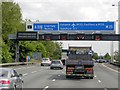 TQ0366 : Anti-clockwise M25 Approaching Addlestone Junction (J11) by David Dixon
