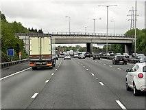 TQ0481 : Iver Lane Bridge over the M25 by David Dixon