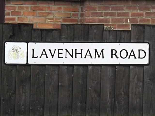 Lavenham Road sign