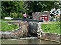 SP1870 : Lock No 21 at Kingswood Junction, Warwickshire by Roger  Kidd