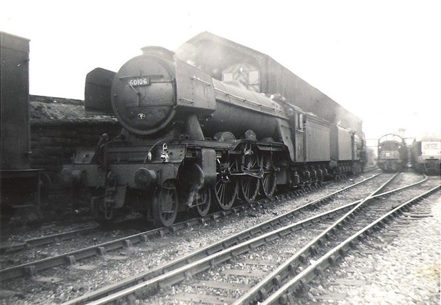 60106 Flying Fox below the coaling stage at Gateshead Shed
