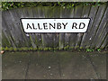 TM1444 : Allenby Road sign by Adrian Cable