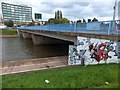SX9192 : Spray-paint art on western Exe Bridge (1) by David Smith