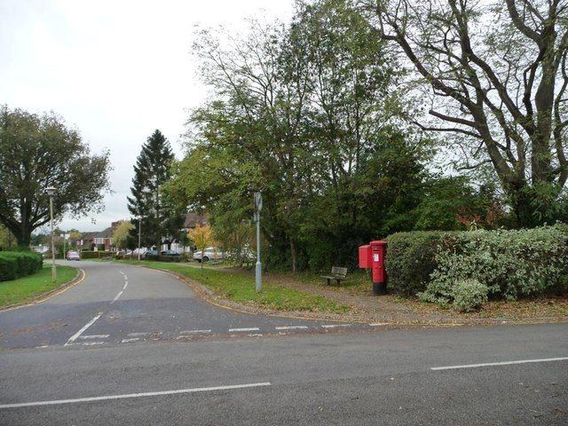 Postbox and delivery box, High Oaks Road