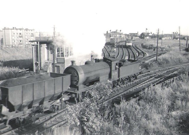 Class J27 65855, with a load of coal for the Tyne staithes