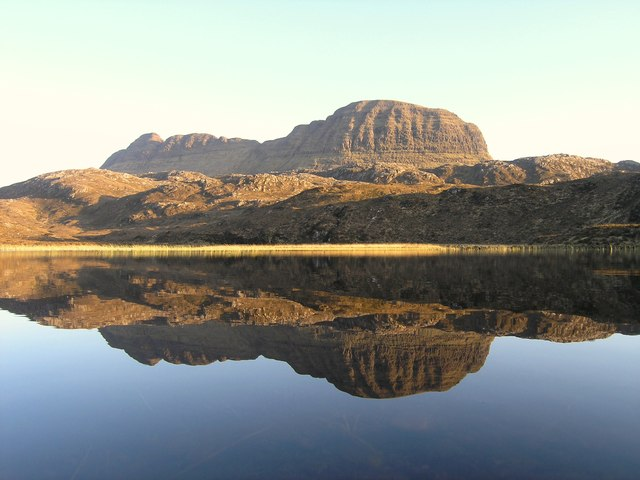 Evening reflection of Suilven, Sutherland
