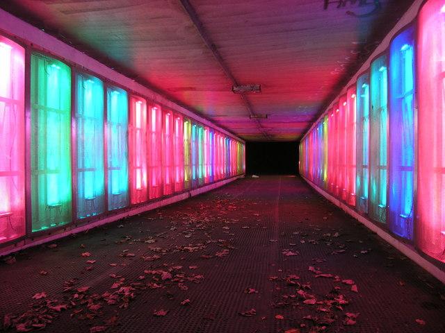 Illuminated Subway near Cramlington, Northumberland