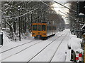NZ2768 : Tyne and Wear Metro Train in the Snow by Andrew Tryon