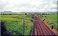 NY2273 : Down the West Coast Main Line at Kirtlebridge by Ben Brooksbank