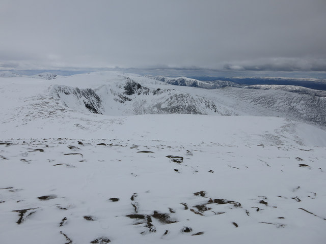Looking down from Cairngorm
