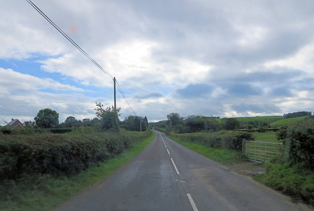 A488 northeast of Five Turnings