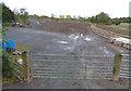 SK5501 : Construction site compound along Watergate Lane by Mat Fascione