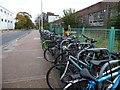 TL2412 : Bicycle racks, Hyde Way, Welwyn Garden City by Christine Johnstone