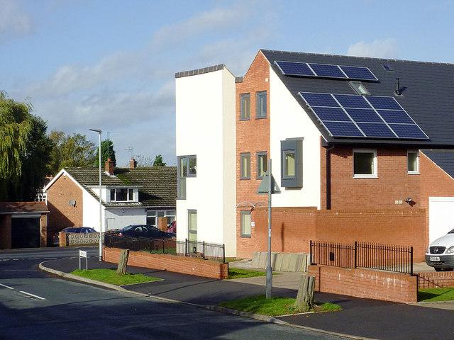 New housing in Sandringham Road, Penn, Wolverhampton