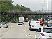 TQ2352 : Footbridge over the M25 by David Dixon